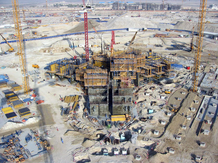 burj khalifa foundation construction